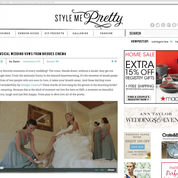 We're Featured!! Style Me Pretty